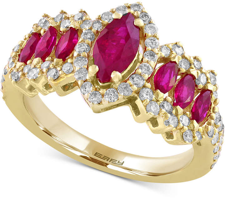 Effy Final Call Ruby (1-1/3 ct. t.w.) and Diamond (5/8 ct. t.w.) Ring in 14k Gold