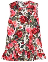 Dolce & Gabbana Printed cotton sleeveless top