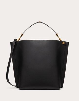 Valentino Escape Grainy Calfskin Hobo Bag Women Black 100% Pelle Di Vitello - Bos Taurus OneSize
