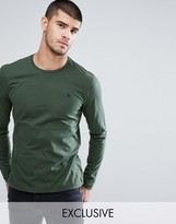 Jack Wills T-Shirt With Long Sleeves And Logo In Pine Exclusive