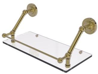 Allied Brass Prestige Regal 18 Inch Floating Glass Shelf with Gallery Rail