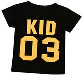 Family Men Women Baby Boy Girls Summer T Shirt,FUNIC Letter Printing Short Sleeve Blouse (2T, Kid 03)