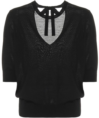 Dorothee Schumacher Sophisticated Softness wool and silk knit top