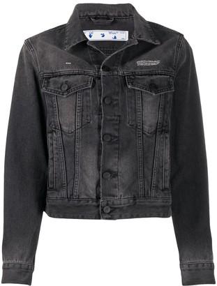 Off-White Button-Up Denim Jacket