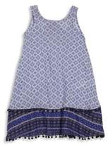 OndadeMar Little Girl's & Girl's Geometric Shift Dress
