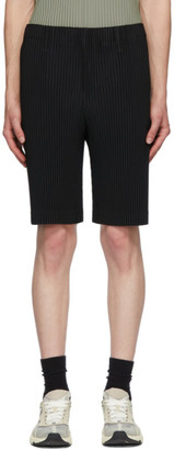 Homme Plissé Issey Miyake Black Tailored Pleats 2 Shorts