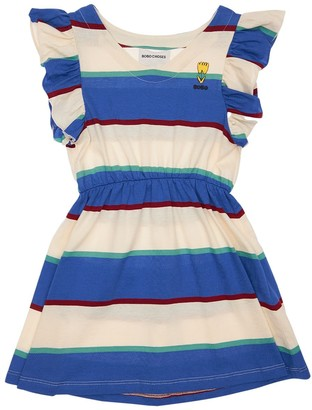 Bobo Choses Striped Print Cotton Dress