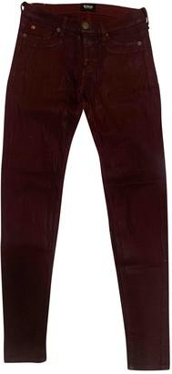 Hudson Burgundy Jeans for Women