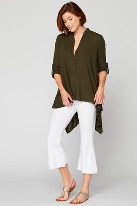 XCVI Gauze Button-Up Tunic
