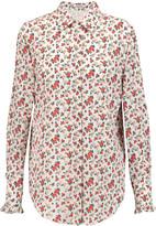 Nina Ricci Floral-print silk crepe de chine shirt