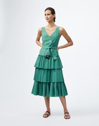 Lafayette 148 New York Dynamic Pleating Elodie Dress