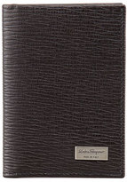 Salvatore Ferragamo Revival Vertical Card Case, Brown