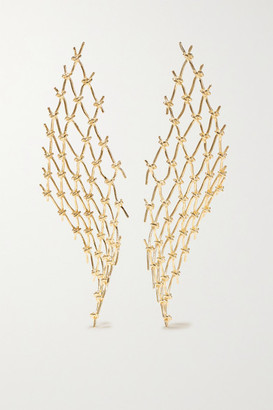 Sarah & Sebastian Large Net Gold Vermeil Earrings
