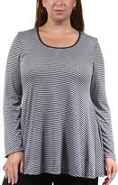 24/7 Comfort Apparel Striped Tunic Top