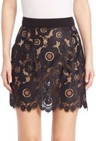 For Love & Lemons Sonya Lace Mini Skirt