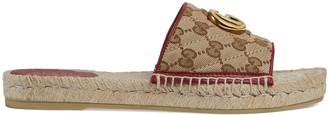 Gucci Women's GG matelasse canvas espadrille sandal