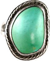 One Kings Lane Vintage Navajo-Style Seafoam Turquoise Ring