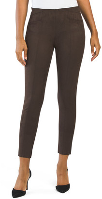 Juniors Techno Faux Suede Pull On Pants