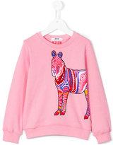 MSGM zebra sweatshirt - kids - Cotton - 6 yrs
