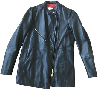 Closed Black Leather Leather Jacket for Women