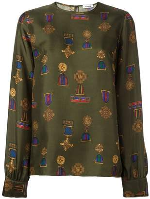 P.A.R.O.S.H. Soldier medal print blouse