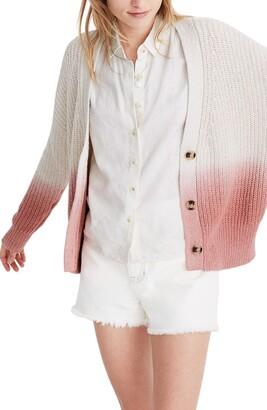 Madewell Courtland Dip Dye Cardigan Sweater