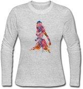 LSADMING Women's Demigoddess Wonder Woman Long Sleeve T Shirt