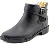 Chooka Double Strapped Chelsea Women Round Toe Synthetic Black Rain Boot.