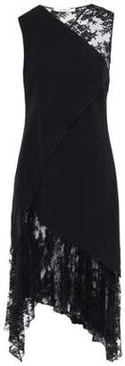 Givenchy Asymmetric Lace-paneled Stretch Wool-crepe Dress