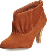 Kelsi Dagger Paloma Ruched Suede Bootie, Saddle