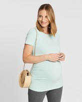 Gap Maternity Maternity Pure Body Stripe Crew Neck T-Shirt