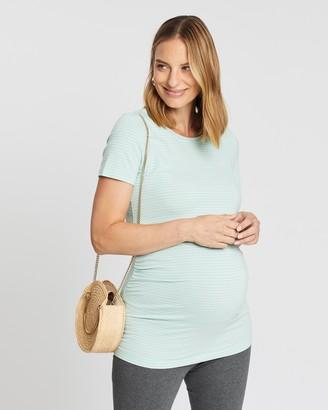 Gap Maternity Maternity Pure Body Stripe Crew Neck T-Shirt