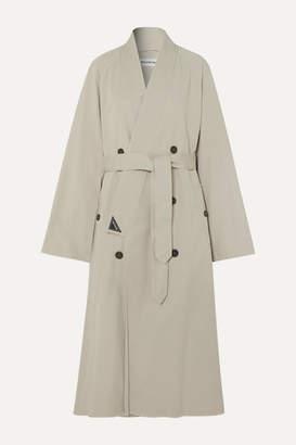 Balenciaga Judo Oversized Cotton-twill Trench Coat - Beige