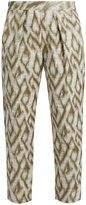 Raquel Allegra Abstract-jacquard cotton-blend trousers