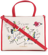 Love Moschino I Love You shopper bag - women - Cotton/Linen/Flax/Polyurethane - One Size