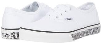 Vans Kids Authentic (Big Kid) ((Animal Sidewall) Zebra/White) Girls Shoes