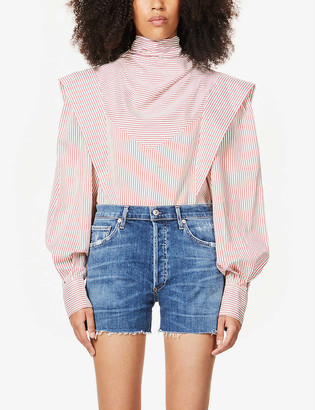 Citizens of Humanity Marlow high-rise stretch-denim shorts