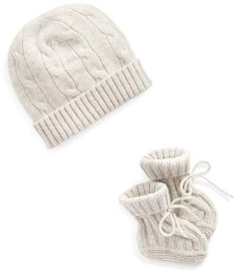 BabyRalph Lauren Cashmere Hat & Booties Set