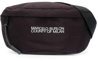Marcelo Burlon County of Milan Logo Print Belt Bag