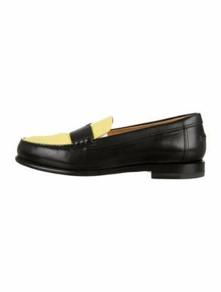 Hermes Leather Bicolor Loafers Black