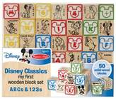 Disney Classics My First ABCs and 123s Wooden Block Set