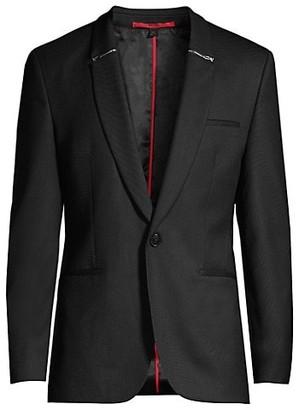 HUGO BOSS Arti Zip Collar Stretch Virgin Wool-Blend Sportcoat