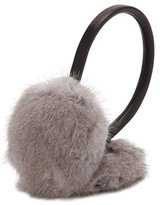 Surell Leather & Mink Fur Earmuffs, Gray/Black