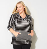 Avenue Mixed Stripe Active Hoodie