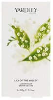 Yardley London Lily of The Valley by of London for Women Luxury Soap 3.5 Ounce (Pack of 3)