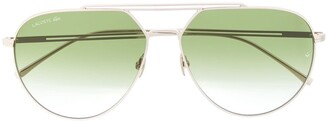 Lacoste Aviator Shaped Sunglasses