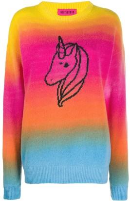 Ireneisgood Intarsia-Knit Unicorn-Motif Jumper