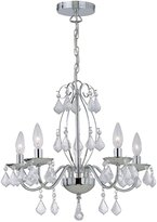 Lite Source Lite Source, Inc. C71157 Brinda 5-Lite Chandelier, Silver