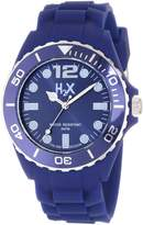 Haurex Italy Men's SB382UB1 Reef Luminous Water Resistant Dark Slate Blue Soft Rubber Watch