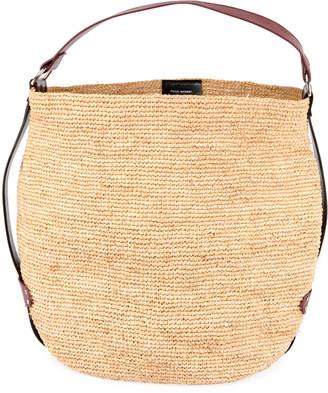 Isabel Marant Bayia Woven Bucket Bag